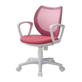 【P5倍1/25 10時〜14時限定&最大1万円クーポン1/24 20時〜1/28 2時】オフィスチェア メッシュ 肘付き デスクチェア 事務椅子 学習椅子 パソコンチェア モールドウレタン イス コンパクト 女性向け 小さい フローラル FLO-43M1-F