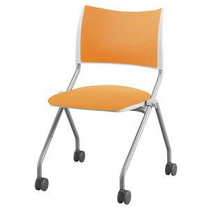 【P5倍3/1 5時〜10時限定&最大400円クーポン3/1〜3/5 10時】ミーティングチェア 折りたたみチェア キャスター付き 会議椅子 肘なし ネスティングチェア スタッキングチェア 会議いす 業務用 布張