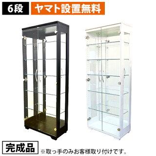 コレクションラック6段設置無料コレクションケース完成品背面ミラー付きガラスケースフィギュアケースショーケースガラスキャビネット送料無料ESP-6