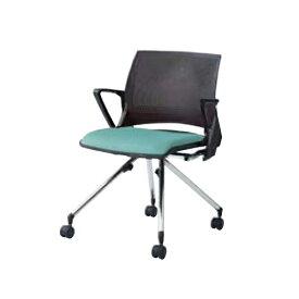 スタッキングチェア 肘付き キャスター付き 送料無料 ネスティング オフィス家具 オフィスチェア イス 椅子 ミーティングチェア デスクチェア 9317RD-F