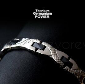【dragonモデル ブレスレット】肩こり チタンブレスレット チタンのゲルマニウムアクセサリー オリジナルモデル チタンゲルマ ゲルマ チタン ゲルマニウム ネックレス 肩こり