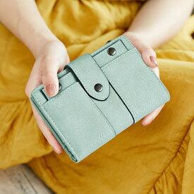 ミントグリーン大人気 6color 二つ折財布 小さい財布 ミニ財布 小銭入れ レディース ファスナー パスケース 財布 コインケース さいふ サイフ