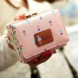 小学生 女子 財布 ミニ財布 キッズ 財布 可愛い 女の子 子供用 中学生 高校生 修学旅行 人気 口金 がま口 三つ折り 花 小さい財布 かわいい コンパクト 折りたたみ お 財布 さいふ 小さめ