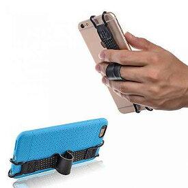 TFY 安全ハンドストラップ 本革 レザーベルト ホルダー  iPhone 6 / 6S (plus) ? iPhone 5 / 5S - iPhone SE - Samsung Galaxy S6 Edge (plus) / S7 / S7 Edge ? Note3 / 4 / 5 他各種スマートフォンに対応 、ケースカバーを付けたままでも装着可能