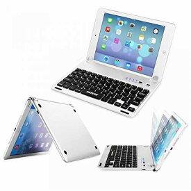 Arteck Apple iPad Mini4用Bluetoothキーボードフォリオケースカバー スタンド付き 超薄型 Apple iPad Mini4に対応 130°旋回