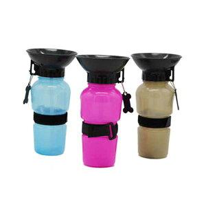 ペット 犬用 散歩 水筒 プッシュ 携帯 ウォーターボトル 500ml 給水器 コップ不要 送料無料