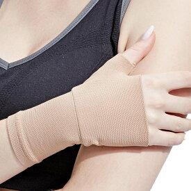 手首 サポーター 手首の固定 腱鞘炎 捻挫 手根管症候群 男女兼用 ベージュ S 送料無料