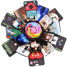 アルバム サプライズボックス ギフトボックス DIY ロマンチック カード ギフト ハンドメイド 爆発ボックス 手作り ラブメモリフ ...
