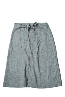 Fried wool long ribbon skirt 1327-0022 BOY gray trapezoid button bottoms made in BEAMS BOY BEAMS Co., Ltd. boy Japan