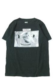 VEIL ヴェール スマイルグラフTシャツ フリー ブラック プリント クルーネック トップス【中古】【VEIL】