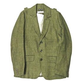 FRANK LEDER フランクリーダー 15SS Green Linen Jacket グリーンリネンジャケット 0512053 XS 3B テーラード バックストラップ アウター【新古品】【中古】【FRANK LEDER】
