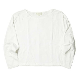B: MING by BEAMS beaming by BEAMS Co., Ltd. 19SS degree filling T-cloth wide pullover 93-14-0160-213 ONE SIZE white long sleeves T-shirt cut-and-sew tops