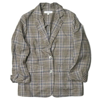 BEAUTY&YOUTH UNITED ARROWS beauty and use UNITED ARROWS 18SS check sloppy jacket 1622-144-0410-free beige linen outer