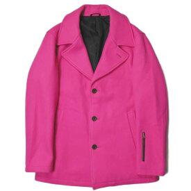 SOPHNET. ソフネット 日本製 SINGLE PEA COAT シングルPコート SOPH-145057 XL ピンク ピーコート ウールヘリンボーン メルトン アウター【中古】【SOPHNET.】