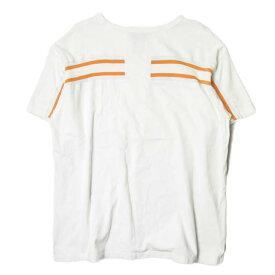 FACETASM ファセッタズム 19SS 日本製 RIB BIG TEE リブビッグTシャツ RB-TEE-U08 00 ホワイト 半袖 クルーネック トップス【中古】【FACETASM】