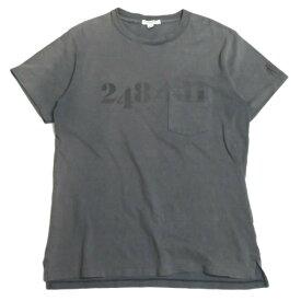 Engineered Garments エンジニアードガーメンツ カナダ製 Printed Cross Crew Neck T-shirt クロスクルーネック ポケットTシャツ S チャコールグレー 半袖 ナンバリング トップス【中古】【Engineered Garments】