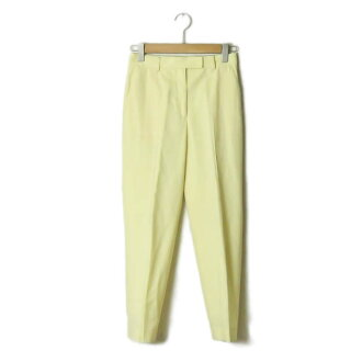 Wool stretch center press tapered pants 13049104001 34 yellow REGGIANI slacks bottoms made in TOMORROWLAND Collection tomorrow land collection 19SS Japan