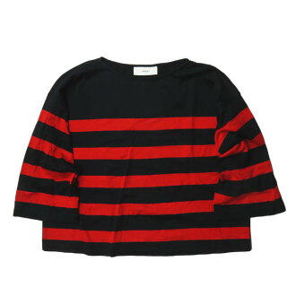 Horizontal stripe boat neck pullover 5412-271-0025-free red / navy cut-and-sew T-shirt UNITED ARROWS tops made in ASTRAET Astolat Japan