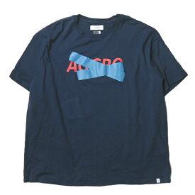FACETASM ファセッタズム 18AW 日本製 AGGRO BIG TEE プリントビッグTシャツ MRC-TEE-U02 00 ネイビー 半袖 クルーネック トップス【中古】【FACETASM】
