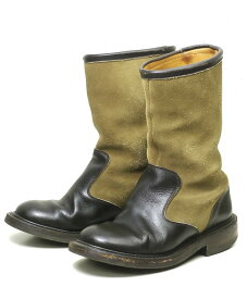 Quilp by Trickers クイルプバイトリッカーズ M7400 TWO TONE ANKLE BOOTS ツートーンアンクルブーツ UK31/2(22cm) ダークブラウン/カーキ ペコスブーツ シューズ【中古】【Quilp by Tricker's】