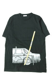 BLACK EYE PATCH x BEAMS T ブラックアイパッチ ビームスティー 17SS 別注 支線 Tシャツ XL ブラック 半袖 プリント トップス【中古】【BLACK EYE PATCH x BEAMS T】