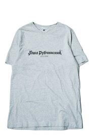 Gosha Rubchinskiy ゴーシャラブチンスキー 17AW LOGO T-Shirt ロゴプリントクルーネックTシャツ G011-T001 L グレー 半袖 トップス【中古】【Gosha Rubchinskiy】