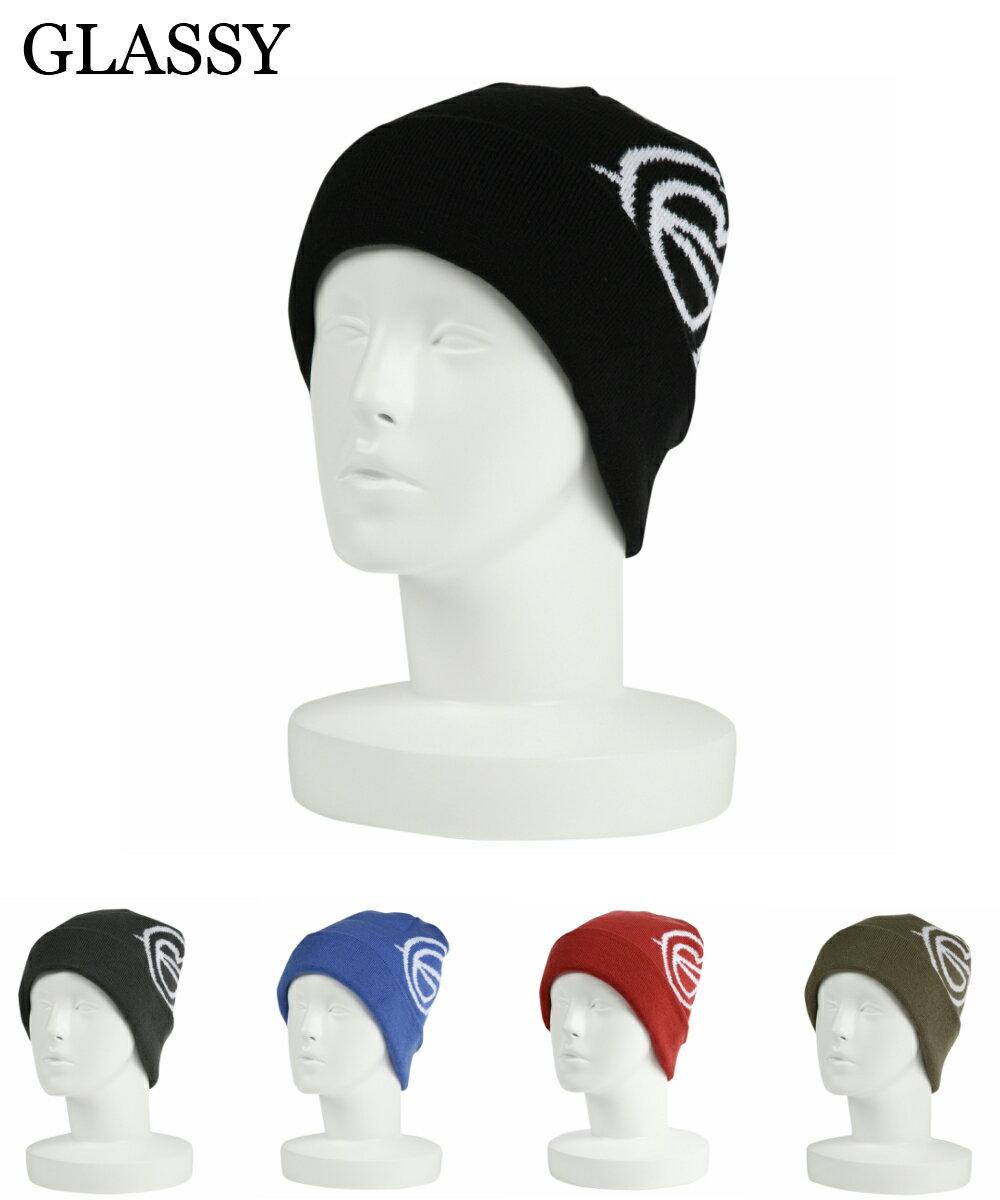 【ネコポス対応】 GLASSY(グラッシー) スノーボード ビーニー ニット帽 ニットキャップ ウィンタースポーツ