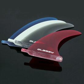 サーフボード フィン ロングボード センターフィン シングルフィン グラスフィン ボックスフィン 7 7インチ ファンボード ミッドレングス GLASSY グラッシー