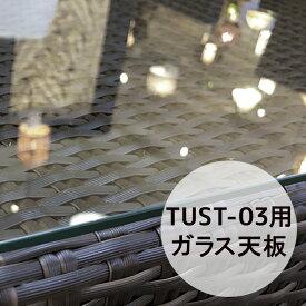 トゥバン TUST-03ラウンドサイドテーブル用ガラス天板 オプション 屋外 ( バリ アジアン リゾート インテリア おしゃれ モダン ) 【TUST-03-GL】