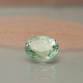 ミントフローライト4.17ct Af-0458cmR 天然石 ルース レアストーン 素材 中石 ミントグリーン 蛍石 稀少石 裸石 オーバル