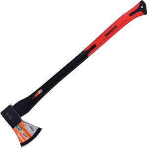 薪割り おの 赤 80cm アウトドア 植栽 伐採 木材 加工 ラバグリップ斧 枝打ち 大工斧 万能斧 薪割り斧 薪ストーブ キャンプ用品 大きめ 斧 まさかり