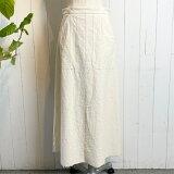 ニトカオーガニックコットンネップツイルAラインスカート