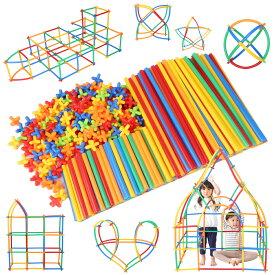 【公式】 Lon-Bi ( ロンビー ) 物作りやアクティビティにも使える新感覚チューブ式ブロック 7色 560ピース 知育玩具 知育 おもちゃ 男の子 女の子 ブロック 積み木 はめこみ