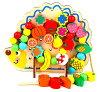 知育玩具おもちゃ女の子男の子玩具木木製子供知育ひもひも通し1歳2歳3歳4歳5歳6歳小学生