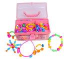 【公式】 Waqubeads(ワクビーズ) 知育玩具 おもちゃ 女の子 アクセサリー 針と糸を使わない ビーズアクセサリー 4歳…