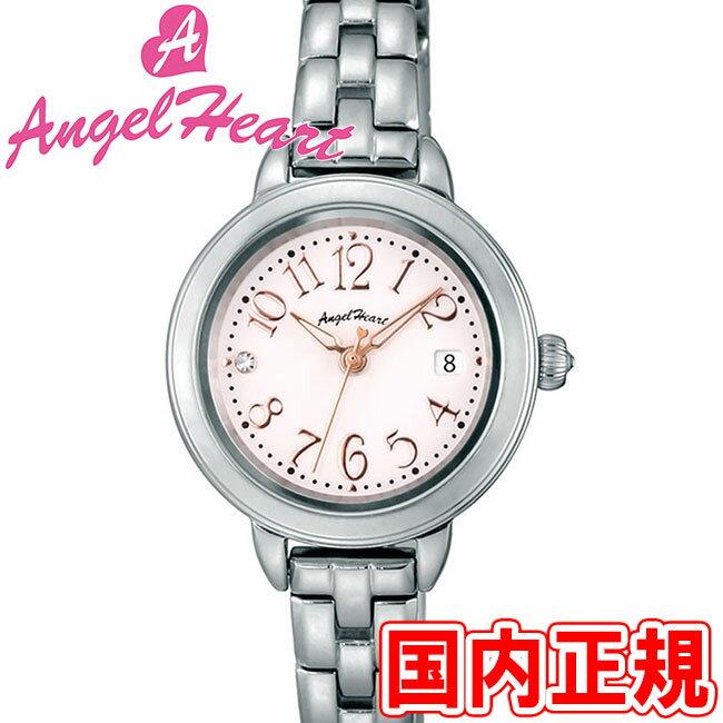 エンジェルハート レディース腕時計 トゥインクルタイム 26mm ソーラー電池(太陽電池) ホワイト/ピンクゴールド/シルバー メタルブレス スワロフスキー Angel Heart Twinkle Time TT26SP 安心の正規品 代引手数料無料 送料無料