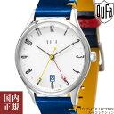 ドゥッファ 腕時計 バウハウス100周年記念 メンズ レディース ホワイト/シルバー/ネイビー・イエローレザー DUFA BAU…