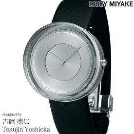 ISSEY MIYAKE イッセイミヤケ 腕時計 吉岡徳仁 ガラスウォッチ 39mm メンズ レディース シルバー/ブラックレザー YOSHIOKA TOKUJINN Glass Watch NYAH001 安心の正規品 代引手数料無料 送料無料 あす楽 即納可能