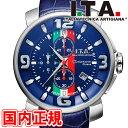 I.T.A. アイティーエー 腕時計 Casanova Chrono Tricolore カサノバ クロノ トリコローレ メンズ クロノグラフ ブルー…
