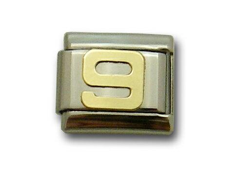 モーダイタリー カスタマイズメッセージブレスレットパーツ 正規品 ナンバー9