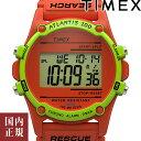 タイメックス 腕時計 メンズ レディース アトランティス 40mm デジタル オレンジ TIMEX TW2U31300 安心の正規品 代引…