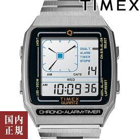全品10%OFFクーポン配布中!10/21(木)9:59まで!TIMEX タイメックス 腕時計 メンズ レディース Q タイメックス リシュー デジタルLCA シルバー TW2U72400 2021AW 安心の国内正規品 代引手数料無料 送料無料 あす楽 即納可能