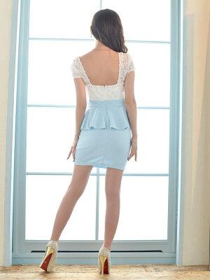 キャバドレスキャバドレス大きいサイズ有GOLDバックル付ペプラムタイトミニドレスSMLLLサイズdazzyQueen桜井莉菜モノトーンパステルバイカラーデイジーdazzyストア[1/17再販]