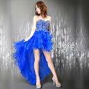 【スーパーSALE特価】 キャバ ドレス バック 編み上げ テールカット ミニ ロングドレス | ドレス ワンピース ロングド…