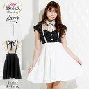 キャバ ドレス ボウタイ リボン 水玉 Aライン ミニ ドレス | ドレス キャバ キャバドレス 大きいサイズ ドレス ワンピ…