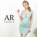 キャバ ドレス フラワー レース サイド シアー タイト ミニ ドレス [AngelR]| ドレス キャバ キャバドレス 大きいサイ…