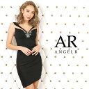 【送料無料】 キャバ ドレス フロント ビジュー シアー デザイン タイト ミニ ドレス [AngelR]| ドレス キャバ キャバドレス 大きいサイズ ドレス ワンピース ミニドレス セクシー ナイトドレス キャバクラ
