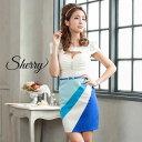 キャバ ドレス 斜め 切り替え 配色 タイト ミニ ドレス [Sherry] | ドレス キャバ キャバドレス 大きいサイズ ドレス …