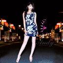 【送料無料】 キャバ ドレス フラワー リボン タイト ミニ ドレス [an]| ドレス キャバ キャバドレス 大きいサイズ ド…