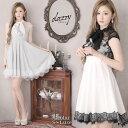 キャバ ドレス ネックリボン レース Aライン ミニ ドレス | ドレス キャバ キャバドレス 大きいサイズ ドレス ワンピ…